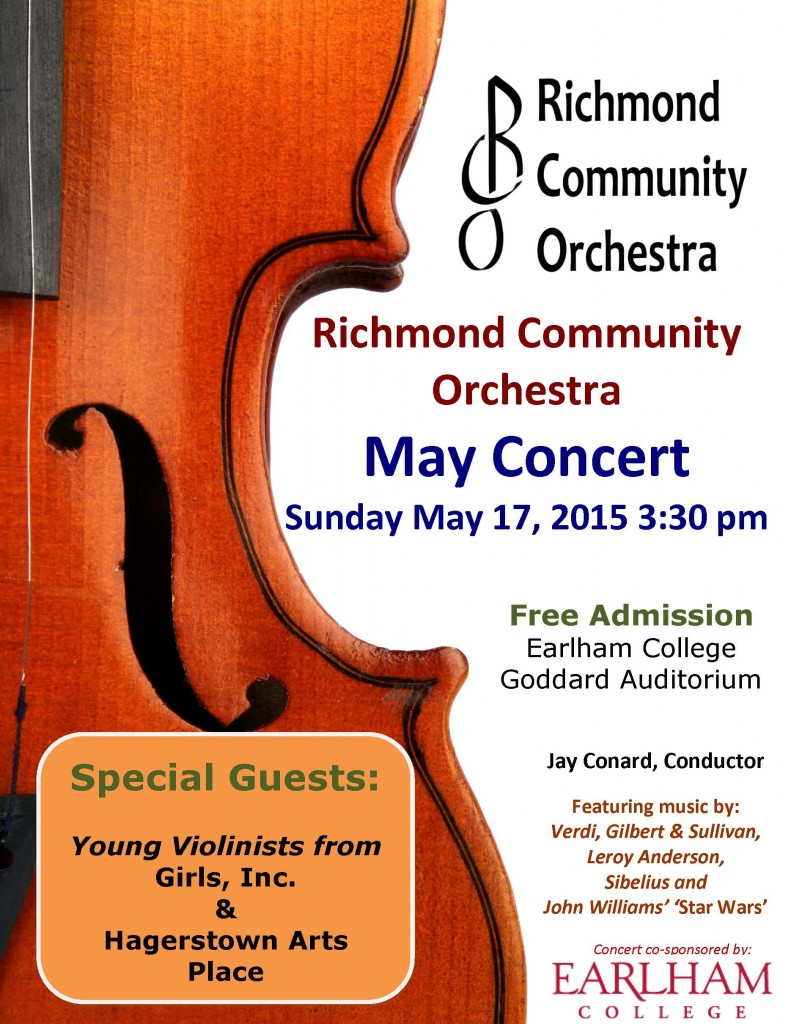 RCO Richmond Community Orchestra May Concert 2015 Poster