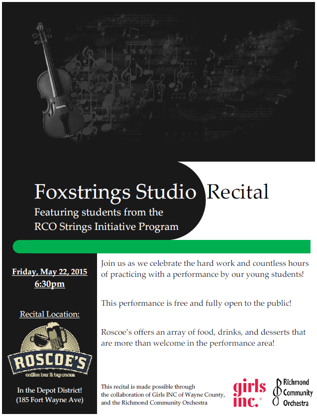 Foxstrings Recital Poster