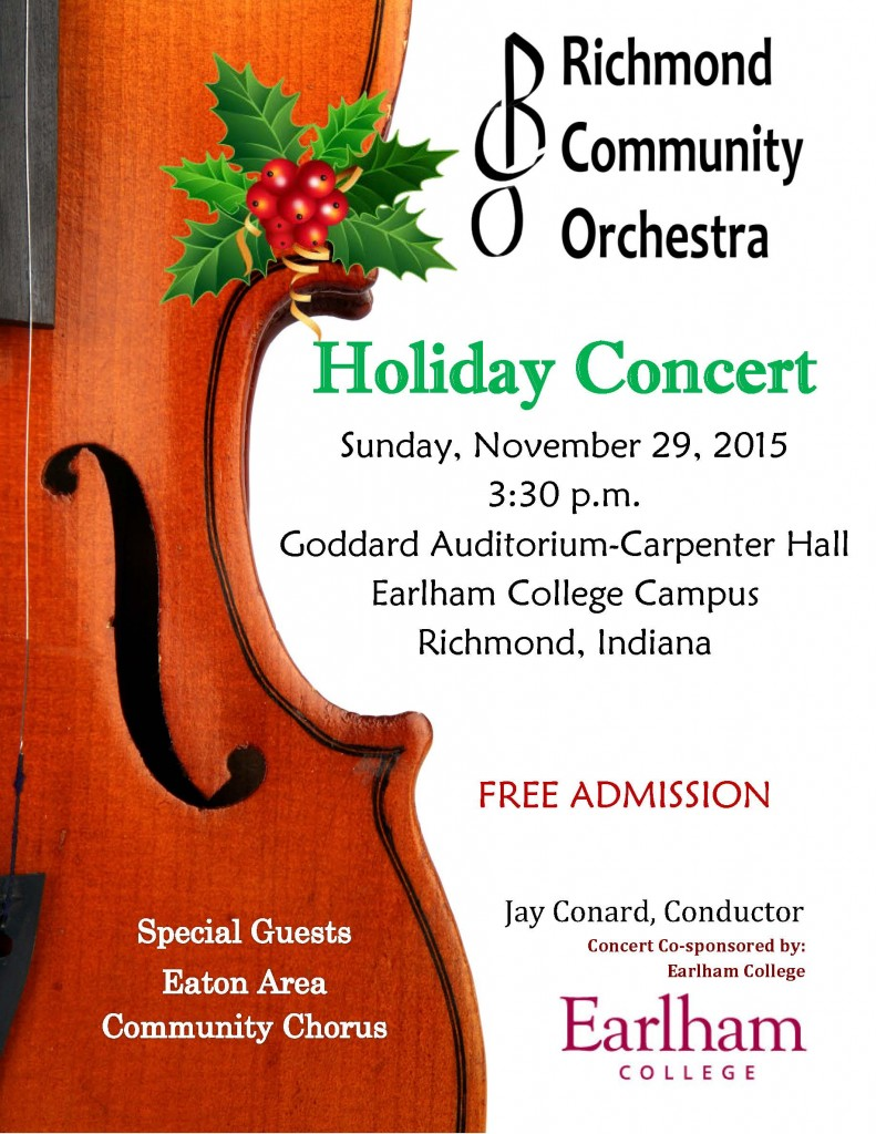 2015 Holiday Concert Poster