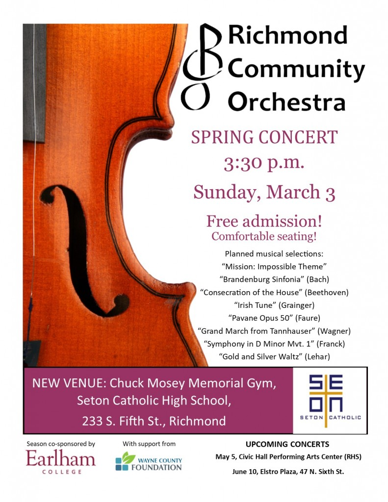 RCO concert poster March 2019 VIOLIN vertical